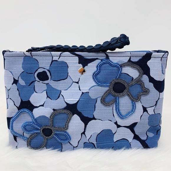 kate spade Handbags - Blue multi on purpose beaded wristlet Kate spade